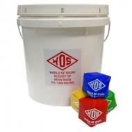 Bucket of 7cm Cube Bean...